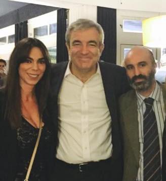 Macelino Marcos, con Teresa Pardo y Luís Garicano