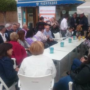 Ciudadanos Rincón de la Victoria celebra su primer café informativo
