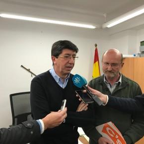 Juan Marín aboga en Alcaucín por dejar al margen la confrontación política y profundizar en el diálogo para solucionar las necesidades de los andaluces