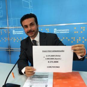 Ciudadanos anuncia que el Ayuntamiento de Fuengirola no recurrirá la sentencia que le condena al pago de 2 millones de euros