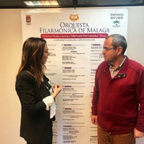 Ciudadanos traslada su apoyo a la Filarmónica de Málaga y su compromiso con el fomento de la música clásica en la provincia