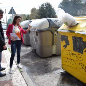 Ciudadanos propone la sustitución de contenedores en la vía pública por 'ecopuntos' que concentren los residuos industriales y residenciales