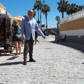 Ciudadanos Torremolinos critica el pavimento usado en las obras de las calles Peligro y Cuesta del Tajo