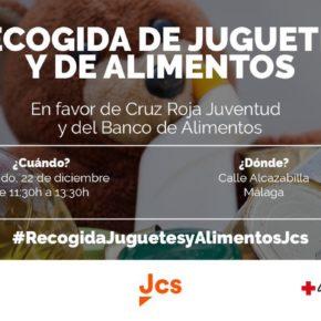 Jcs organiza su tradicional recogida de juguetes y alimentos en favor de Cruz Roja Juventud y Banco de Alimentos