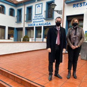 Padilla destaca la trayectoria de la Escuela de Hostelería de Benahavís, Sabor a Málaga, como referente gastronómico